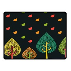 Vector Color Tree Double Sided Fleece Blanket (Small)