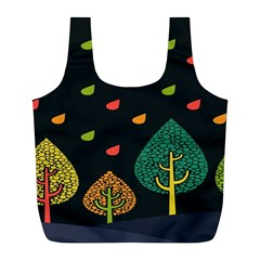 Vector Color Tree Full Print Recycle Bags (l)