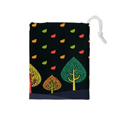 Vector Color Tree Drawstring Pouches (medium)