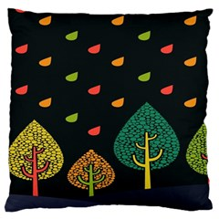 Vector Color Tree Large Flano Cushion Case (one Side)