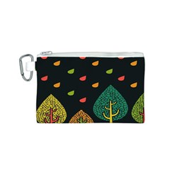 Vector Color Tree Canvas Cosmetic Bag (s)