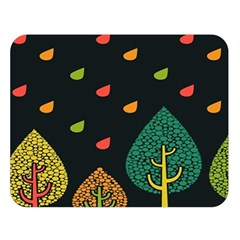 Vector Color Tree Double Sided Flano Blanket (large)