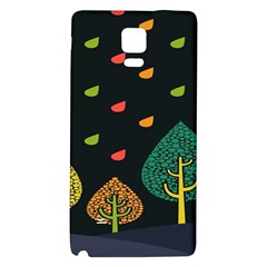 Vector Color Tree Galaxy Note 4 Back Case