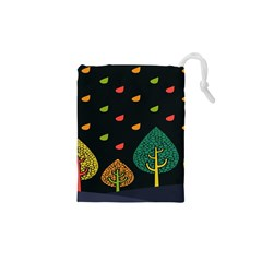 Vector Color Tree Drawstring Pouches (XS)