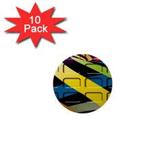 Colorful Docking Frame 1  Mini Buttons (10 Pack)