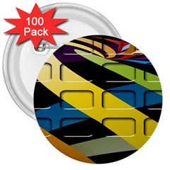 Colorful Docking Frame 3  Buttons (100 pack)