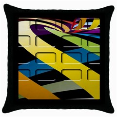 Colorful Docking Frame Throw Pillow Case (Black)