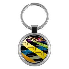 Colorful Docking Frame Key Chains (Round)