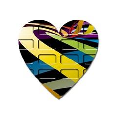 Colorful Docking Frame Heart Magnet