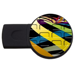 Colorful Docking Frame Usb Flash Drive Round (2 Gb)