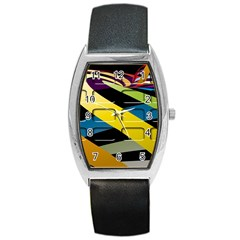 Colorful Docking Frame Barrel Style Metal Watch