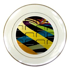 Colorful Docking Frame Porcelain Plates