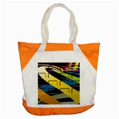 Colorful Docking Frame Accent Tote Bag