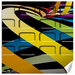Colorful Docking Frame Canvas 12  X 12