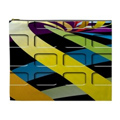Colorful Docking Frame Cosmetic Bag (XL)