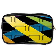 Colorful Docking Frame Toiletries Bags