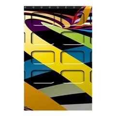 Colorful Docking Frame Shower Curtain 48  X 72  (small)