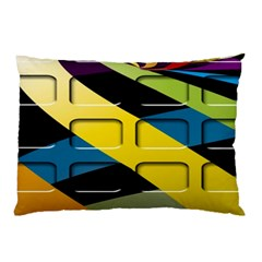 Colorful Docking Frame Pillow Case (Two Sides)