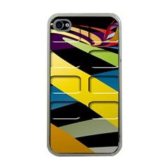 Colorful Docking Frame Apple Iphone 4 Case (clear)
