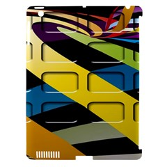 Colorful Docking Frame Apple Ipad 3/4 Hardshell Case (compatible With Smart Cover)