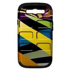 Colorful Docking Frame Samsung Galaxy S III Hardshell Case (PC+Silicone)
