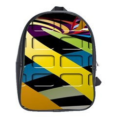 Colorful Docking Frame School Bags (XL)