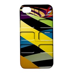Colorful Docking Frame Apple Iphone 4/4s Hardshell Case With Stand