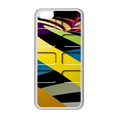 Colorful Docking Frame Apple iPhone 5C Seamless Case (White)