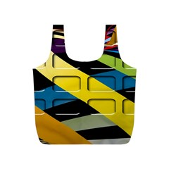 Colorful Docking Frame Full Print Recycle Bags (S)