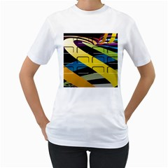 Colorful Docking Frame Women s T Shirt (white)