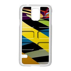 Colorful Docking Frame Samsung Galaxy S5 Case (White)