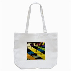 Colorful Docking Frame Tote Bag (white)