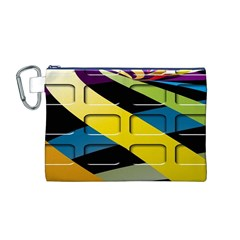 Colorful Docking Frame Canvas Cosmetic Bag (M)