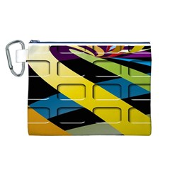 Colorful Docking Frame Canvas Cosmetic Bag (l)