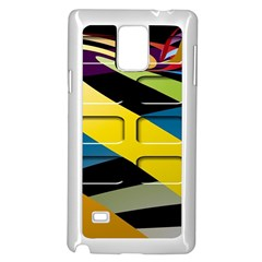 Colorful Docking Frame Samsung Galaxy Note 4 Case (White)