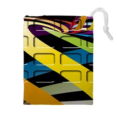 Colorful Docking Frame Drawstring Pouches (Extra Large)