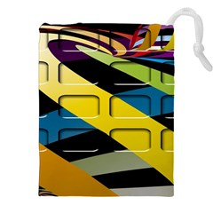 Colorful Docking Frame Drawstring Pouches (xxl)