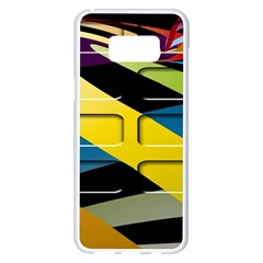 Colorful Docking Frame Samsung Galaxy S8 Plus White Seamless Case