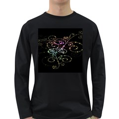 Sparkle Design Long Sleeve Dark T-Shirts