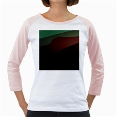 Color Vague Abstraction Girly Raglans