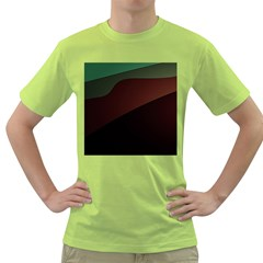 Color Vague Abstraction Green T-Shirt