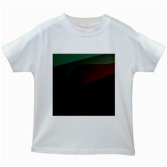 Color Vague Abstraction Kids White T Shirts