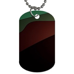 Color Vague Abstraction Dog Tag (two Sides)