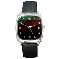 Color Vague Abstraction Square Metal Watch