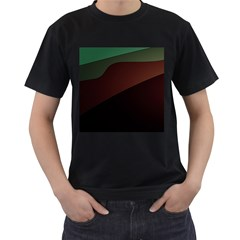 Color Vague Abstraction Men s T Shirt (black) (two Sided)