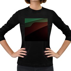 Color Vague Abstraction Women s Long Sleeve Dark T-Shirts