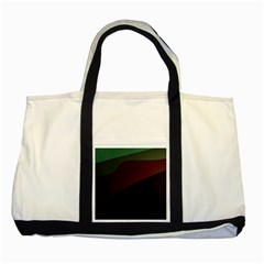 Color Vague Abstraction Two Tone Tote Bag