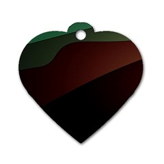 Color Vague Abstraction Dog Tag Heart (Two Sides)