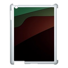 Color Vague Abstraction Apple iPad 3/4 Case (White)