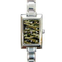 Military Vector Pattern Texture Rectangle Italian Charm Watch